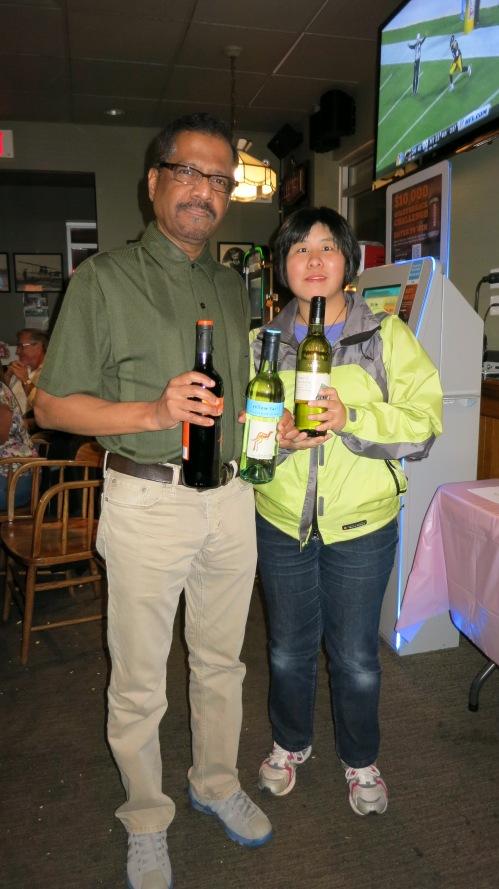 Raffle winner of the 'Wines around the World' package